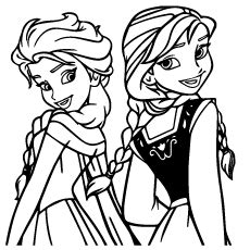 beauty  frozen elsa coloring page  printable