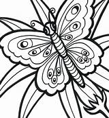Coloring Easy Pages Adults Printable Adult Print Butterfly Simple Bestcoloringpagesforkids Getdrawings Templates Source sketch template