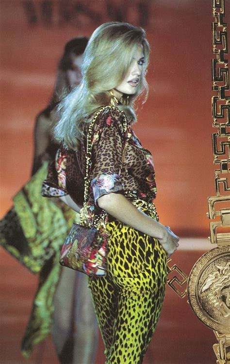 gianni versace  collection leotard print started