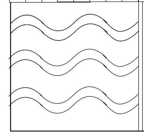 wave template wavy line quilting template mystery bay quilt design