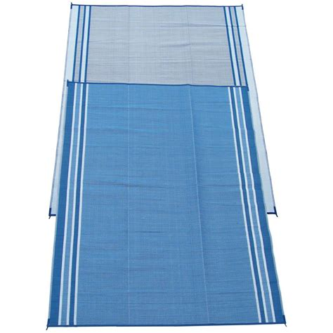 fireside patio mats hawaiian blue 9 ft x 12 ft polypropylene indoor outdoor reversible patio