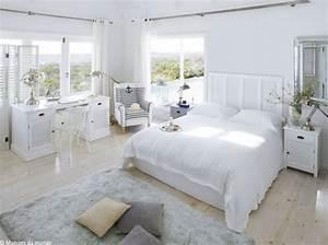 Deco Chambre Blanche : d coration chambre blanche exemples d 39 am nagements ~ Zukunftsfamilie.com Idées de Décoration