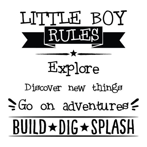 boy rules wall quotes decal wallquotescom