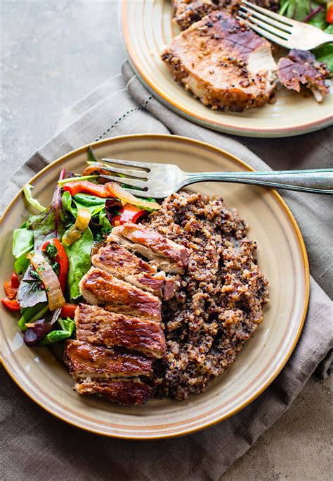 one pot pork meals bbq cherry one pot pork chops w quinoa gluten free recovery meal