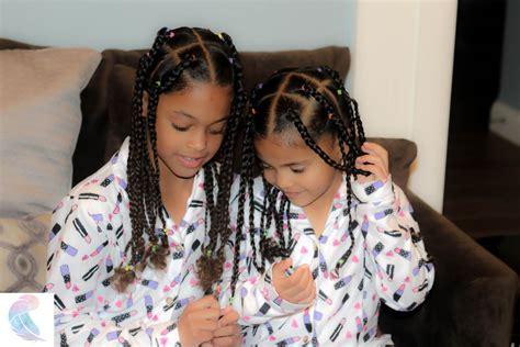 jumbo box braids  easy protective hairstyle  mixed kids