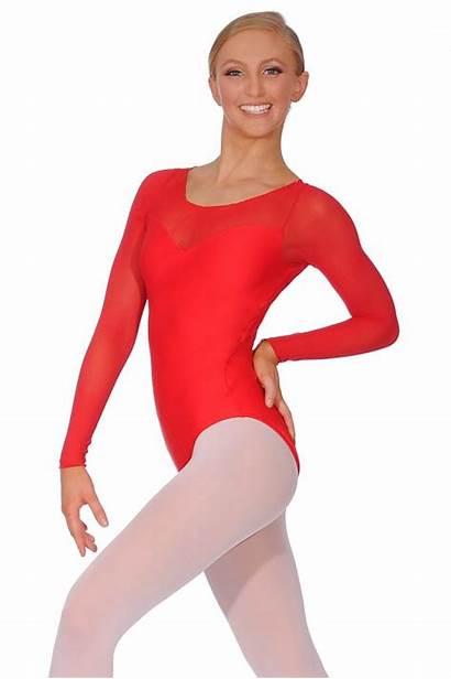 Sleeve Leotard Ballet Ladies Rosa Leotards Perle