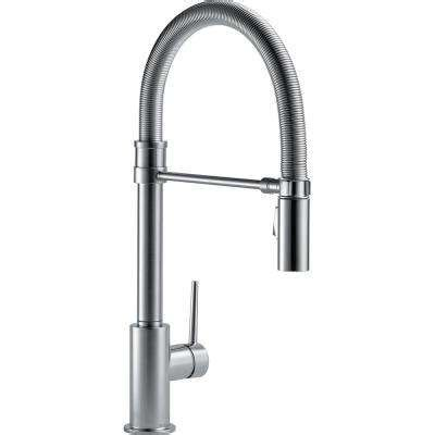 Delta Lakeview Faucet 19963 by Pull Faucets Kitchen Faucets Kitchen The Home Depot
