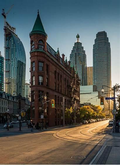 Toronto Building Flatiron Buildings Canada Topleftpixel Gooderham