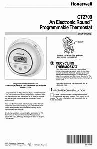Honeywell Ct2700 User U0026 39 S Manual