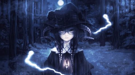 Anime Witch Wallpaper - 1920x1080 anime horns forest ghostd