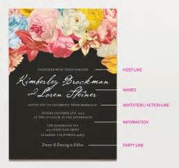 wedding invitation sayings wedding invitation wording creative and traditional a practical wedding a practical wedding