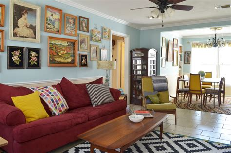 Extensive Leisure Vintage Eclectic Living Room