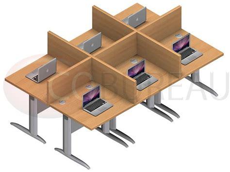 bureau marguerite marguerite 6 postes droit identiques en largeur plateaux