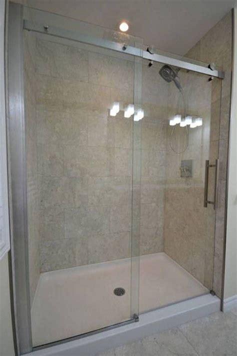 shower pan  sliding glass door  bathroom bathroom