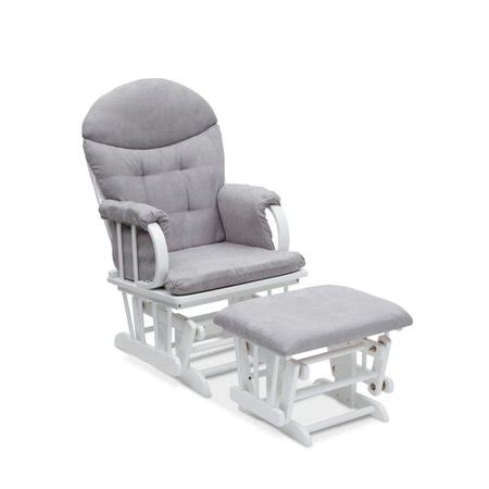 delta glider and ottoman delta children glider ottoman white dove grey walmart