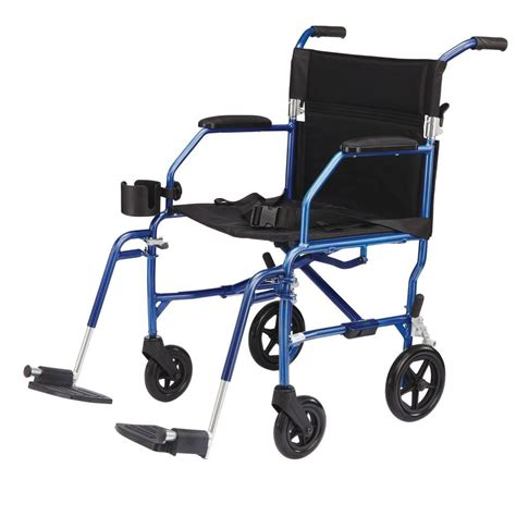 Medline Transport Chair by Medline Freedom Transport Wheelchair In Blue Mds808200slbr
