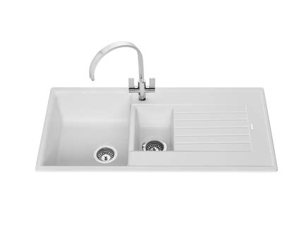 white composite kitchen sinks lamona white granite composite 1 5 bowl sink howdens joinery 1278