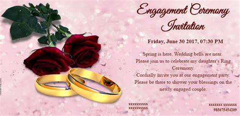Free Engagement Invitation Card & Video Online Invitations