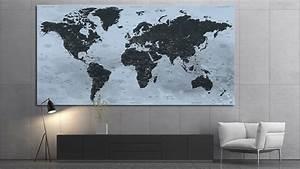 Tableau Du Monde : carte du monde tableau mappemonde tableau world map trolltunga ~ Teatrodelosmanantiales.com Idées de Décoration