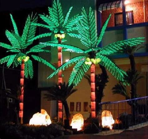 palm tree lights lighted palm trees outdoor palm tree lights