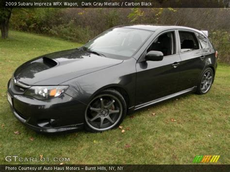 subaru wrx all black dark gray metallic 2009 subaru impreza wrx wagon
