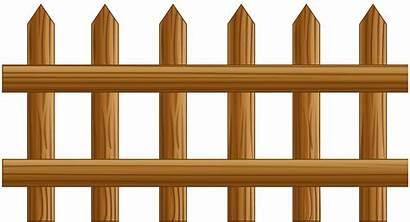 Fence Clip Clipart Transparent Fences Wooden Yopriceville