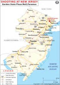 NJ New Jersey State Map