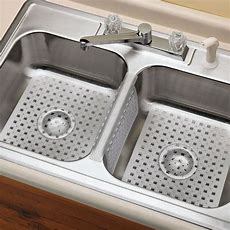 Kitchen Sink Mats Set Clear Rubber Saddle Divider Protects