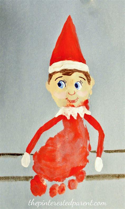 Footprint Elf On The Shelf Christmas Crafts Christmas