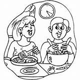 Dinner Cooking Laughing Couple Coloring Kitchen Printable sketch template