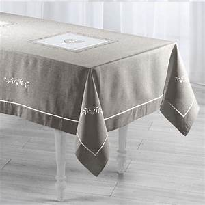 Nappe Rectangulaire Grise : nappe de table linge de table eminza ~ Teatrodelosmanantiales.com Idées de Décoration