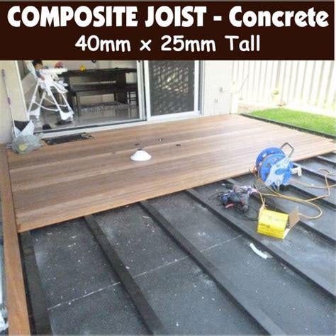 composite joists  installing  concrete