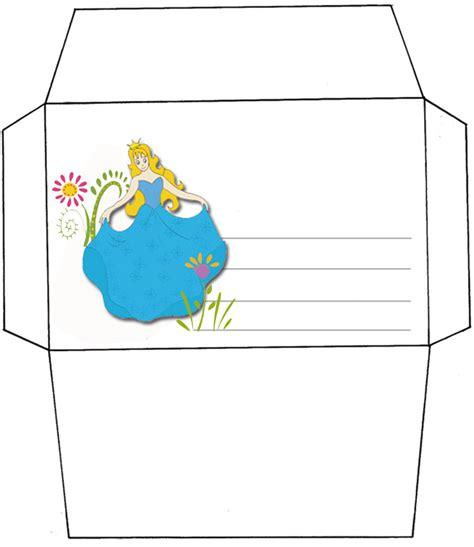 imprimer lenveloppe danniversaire de princesse modele bleu