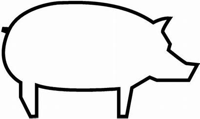 Pig Coloring Outline Template Piggy Printable Pages