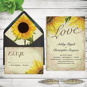 items similar to wedding invitations sunflower fall With diy wedding invitations fall theme