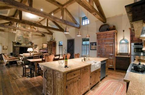cuisine style montagne décoration intérieur chalet montagne 50 idées inspirantes