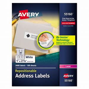 repositionable address labels by averyr ave55160 With avery mailing labels 1 x 2 5 8