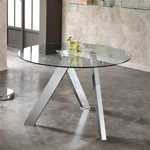 Tisch Rund Glas : glas esstisch flace mit stahlgestell ~ Frokenaadalensverden.com Haus und Dekorationen