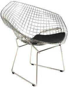 grey linen chair harry bertoia style wire diamond lounge chair style