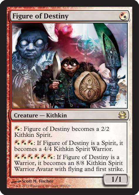 Mtg White Deck Modern by Figure Of Destiny From Modern Masters Spoiler