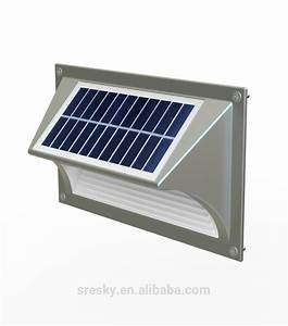 Metal solar powered outdoor led step wall light for park