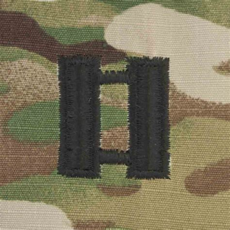 scorpion rank captain  fastener military patch  army