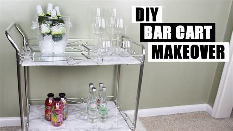 Home Bar Makeover by Diy Bar Cart Makeover How To Style A Bar Cart Diy Faux