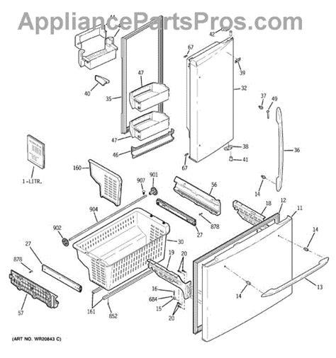 parts  ge pfsfrkzabb doors bins parts appliancepartsproscom