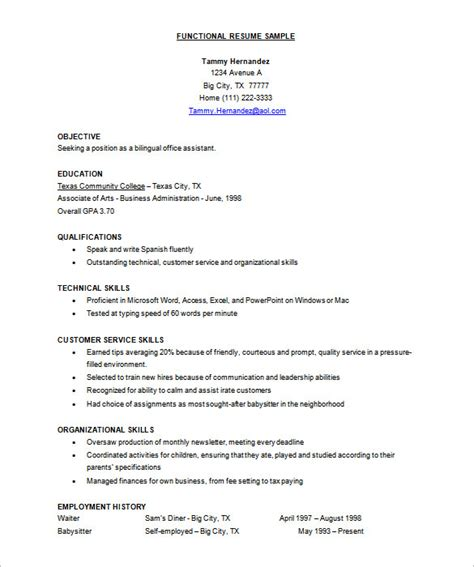 Free Functional Resume Template by Resume Templates 45 Free Word Excel Pdf Psd Format