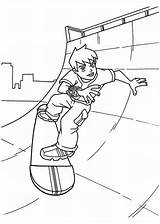Skateboard Coloring Pages Ben Skating Sheets Playing Young Printable Colornimbus Freecoloringpages Extreme Getcoloringpages Afkomstig Van sketch template