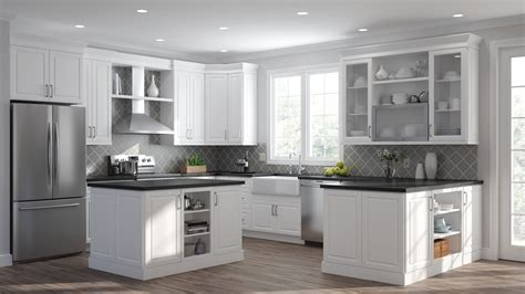 elgin double oven cabinets  white kitchen  home depot