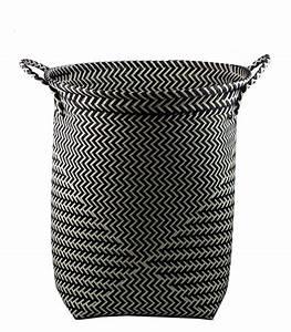 Panier A Linge Noir : grand panier linge en polypropyl ne noir et blanc ~ Teatrodelosmanantiales.com Idées de Décoration