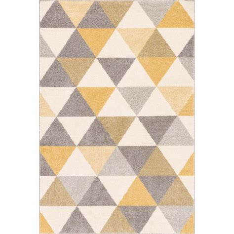 brown and area rugs well woven mystic alvin gold 5 ft x 7 ft modern