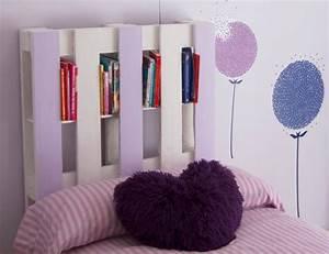 Lit En Palette Avec Rangement : 1001 mod les pour une t te de lit en palette de bois diy ~ Melissatoandfro.com Idées de Décoration